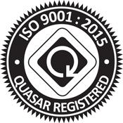 ISO 9001:2015 Quasar Registered
